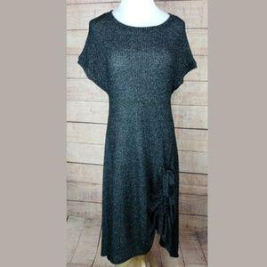NWOT Comfy USA gathered hem grey sweater dress